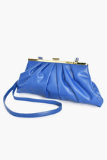 Pleat Front Clutch Bag (Cobalt)