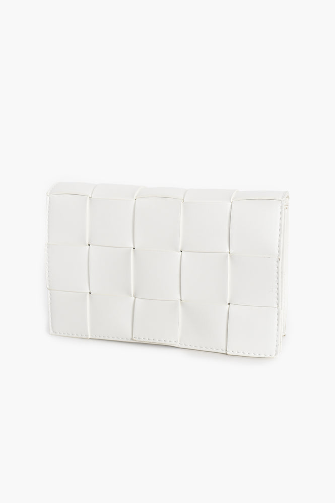 Wide Plait Small Bag (White)