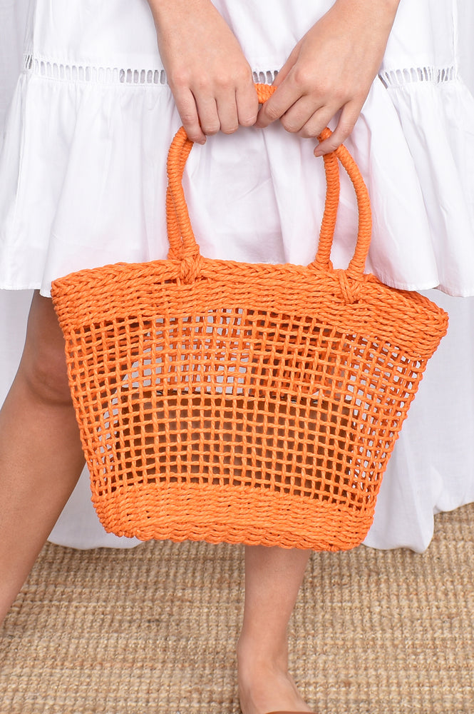 Open Weave Basket (Orange)