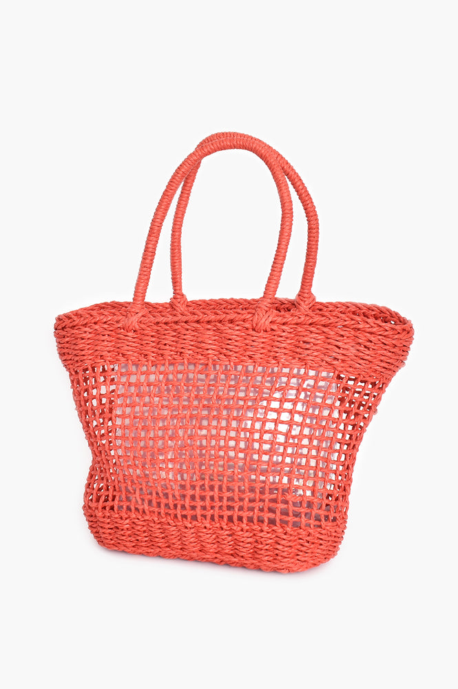 Open Weave Basket (Red)