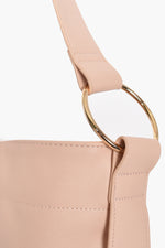 Ring Detail Long Tab Handle Bag (Nude)