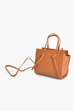 Mini Wing Knot Tab Handle Bag (Tan)