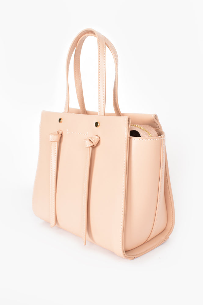 Large Wing Knot Tab Handle Bag (Pink)