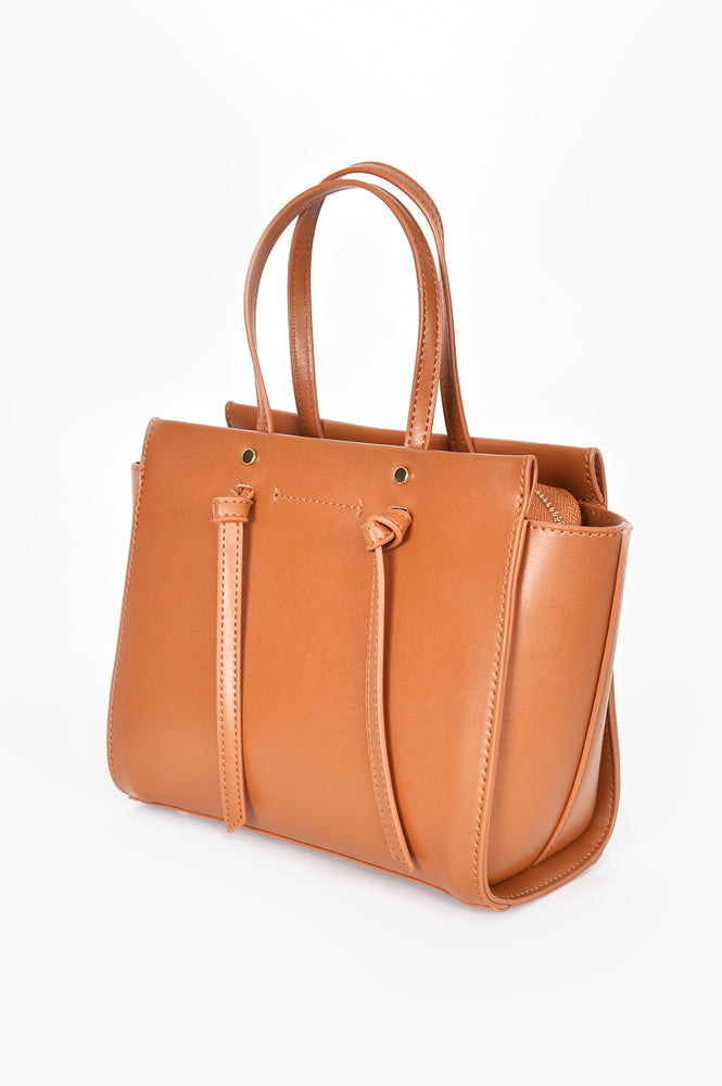 Large Wing Knot Tab Handle Bag (Tan)