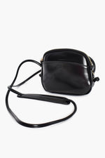 Knot Detail Pocket Front Curve Bag (Black)
