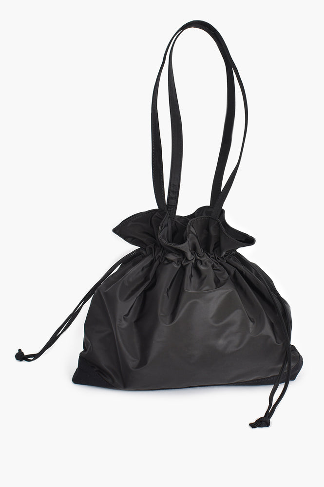 Nylon Drawstring All Purpose Tote (Black)