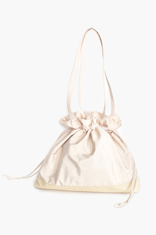 Nylon Drawstring All Purpose Tote (Cream)