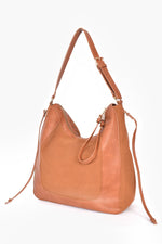 Mabel Panelled Shoulder Bag (Tan)