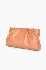 Carmel Pleat Top Crossbody Bag (Toffee)