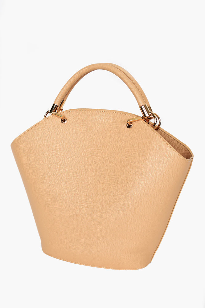 Miranda Curved Top Tote (Camel)