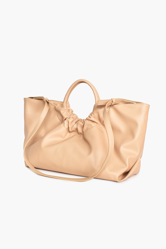 Felicity Gathered Tote (Nude)