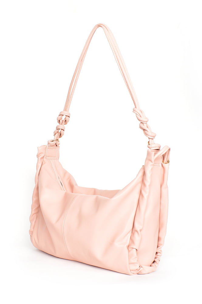 Grace Knotted Shoulder Bag (Nude)