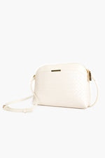 Cynthia Plait Pattern Crossbody Bag (Stone)