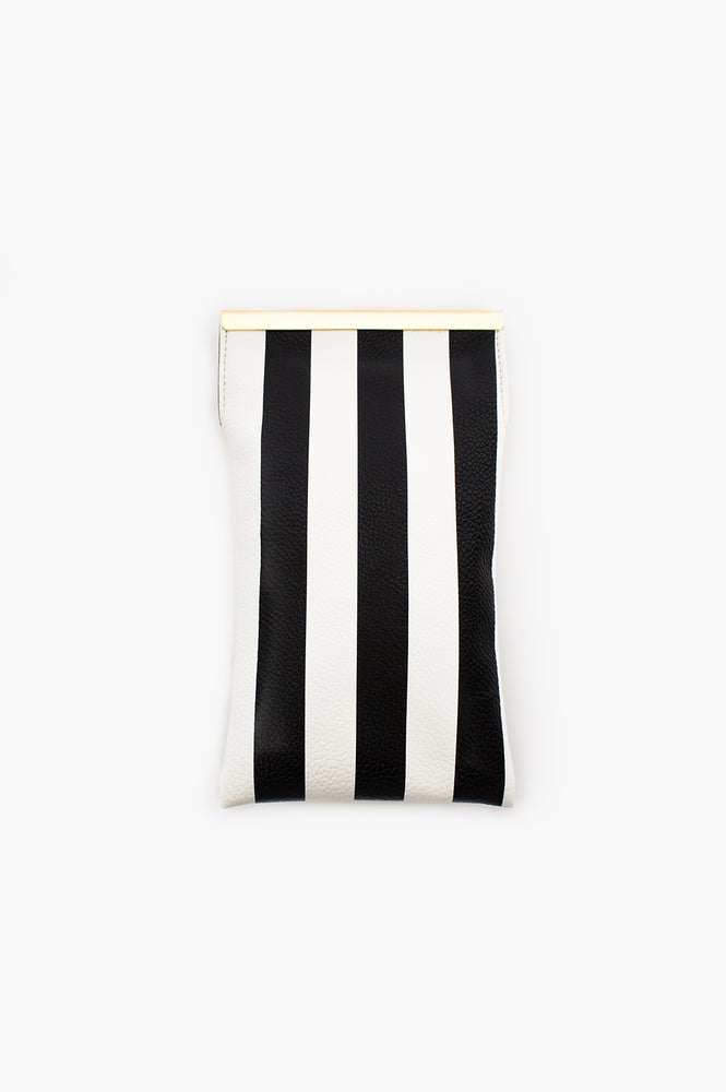 Stripe Sunglasses Case (Black/White)