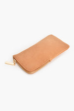 Faux Suede Sunglasses Case (Camel)