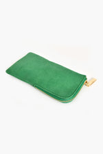 Faux Suede Sunglasses Case (Green)