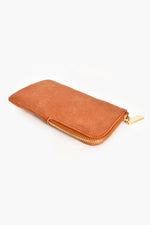 Faux Suede Sunglasses Case (Tan)