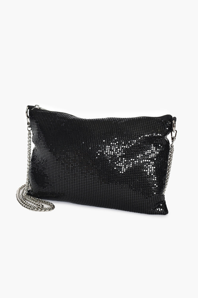 Chain Mesh Small Bag (Black)