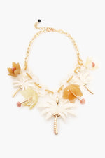 Island Paradise Resin Necklace (Cream/Gold)