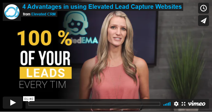 4 Advantages in using Elevated Lead Capture Websites