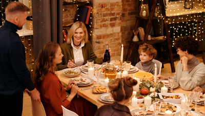 How can you enjoy Christmas dinner if you have mild swallowing difficulties?