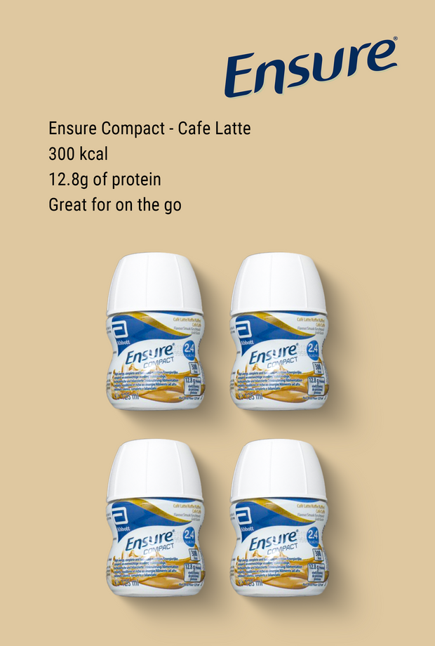 Ensure Compact Cafe Latte 4 x 125ml