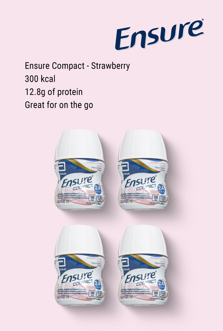 Ensure Compact Strawberry 4 x 125ml