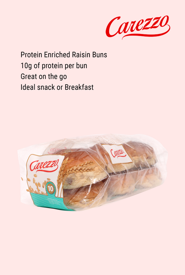 Carezzo Protein Enriched Raisin Buns (Pack of 6)