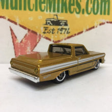 Load image into Gallery viewer, Custom Gold Hot Wheels Ranchero Childhood Cancer Gold Hot Rod!