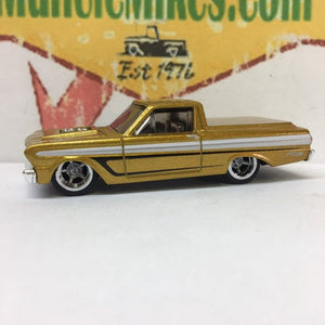 Custom Gold Hot Wheels Ranchero Childhood Cancer Gold Hot Rod!