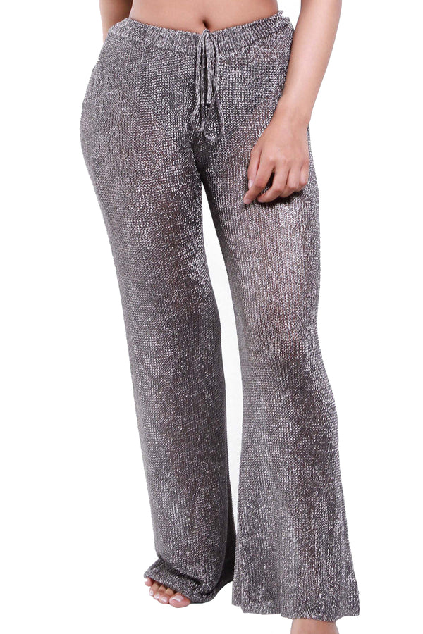 THE METALLIC | GUNMETAL PANTS