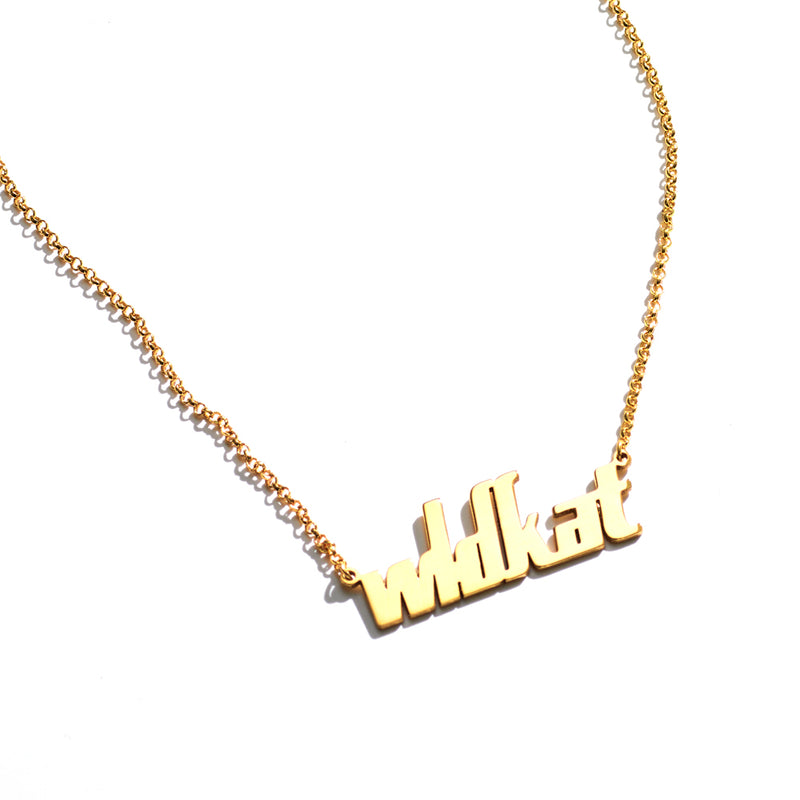WLDKAT Name Plate Necklace