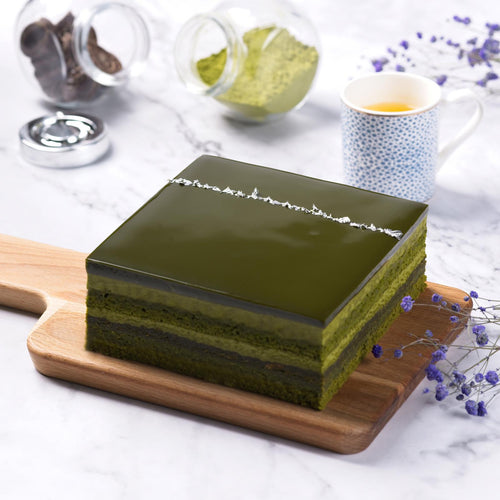 6 layers matcha chocolate mousse cake