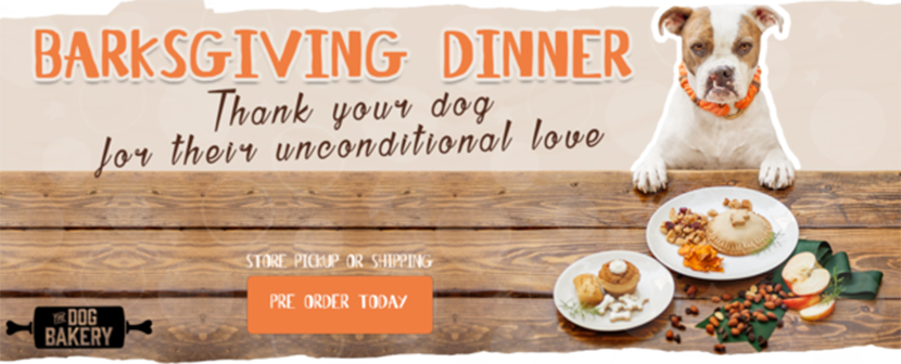 The Dog Bakery's Barksgiving Dinner is a safe and healthy Thanksgiving Dinner for Dogs