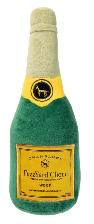 Champagne Dog Toy with Squeaker