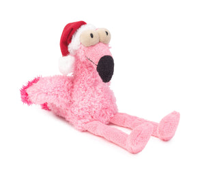 Flamingo Santa Dog Toy