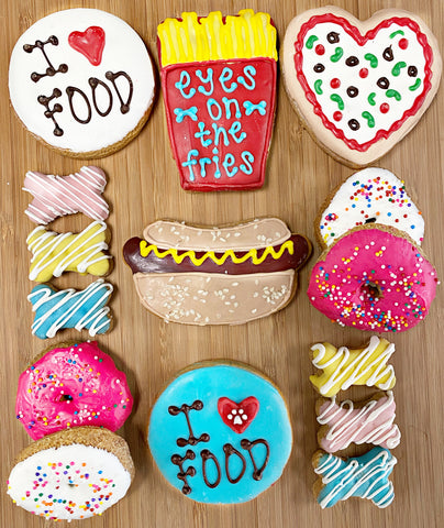 junk food cookie collection from The Dog Bakery & Rocky Kanaka