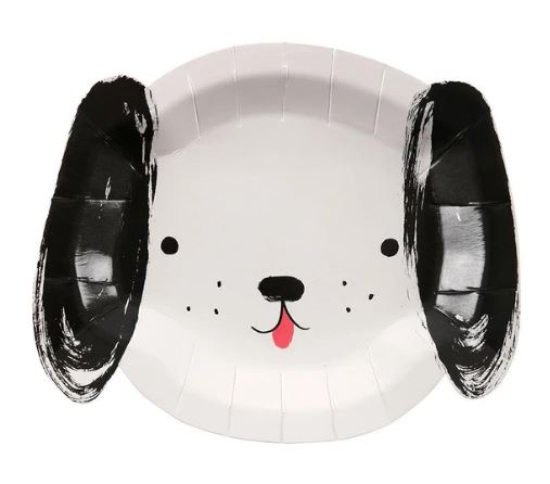 Black & White Dog Plates