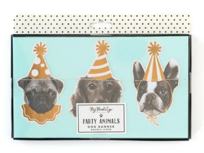 Party Animals Dog Banner