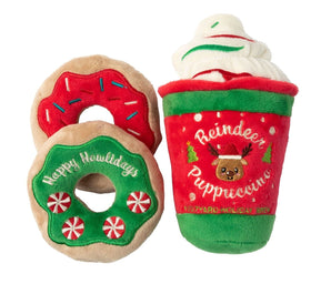 Reindeer Puppuccino + Donuts 3 Pack