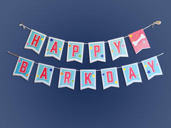 puppy birthday banner