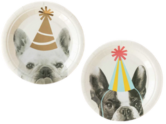"Party Animals Dog 7"" Plates"