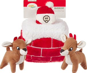 Chimney Squeaky Hide & Seek Plush Dog Toy