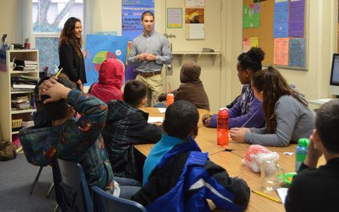 KUTOA Teaching Nutrition at Mustard Seed School in Sacramento, CA