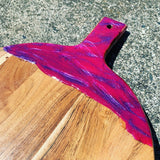 Pink Purple Sparkle Paddle Serving Board