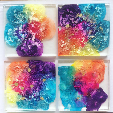 Rainbow Drop Coasters