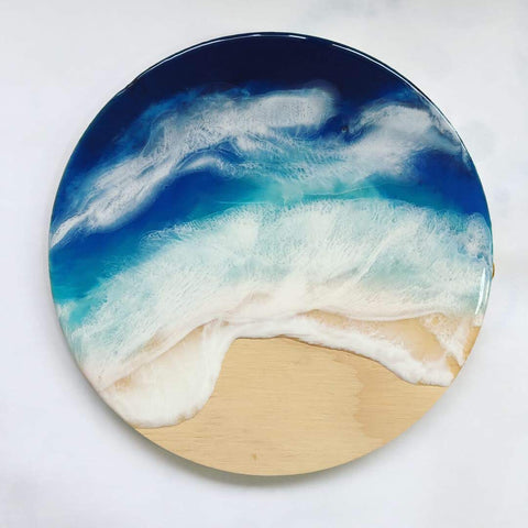 Small Beach Round Wall Hanging