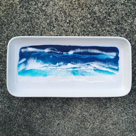 Ceramic Beach Themed Serving Platter