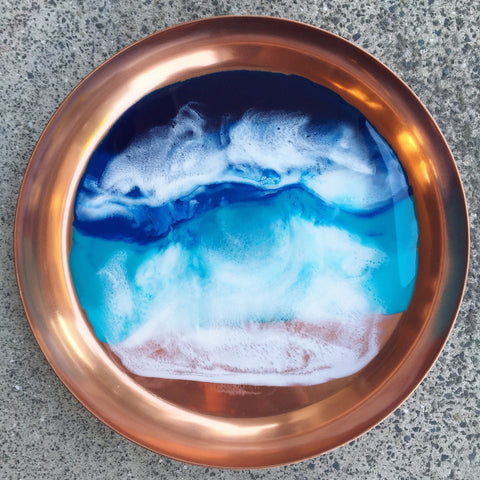 Copper Beach Themed Serving Bowl