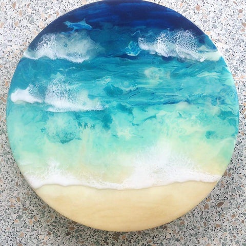 Arataki Beach - Resin Wall Art
